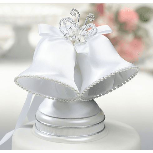 White Bells Caketop with Butterfly