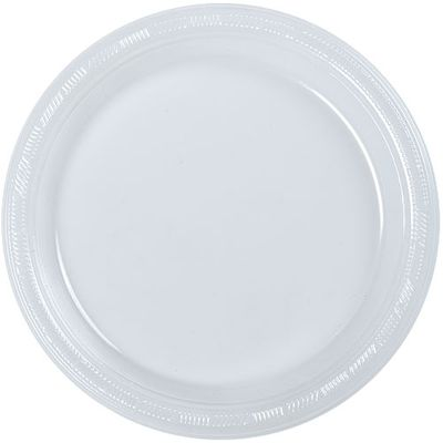 """10"""" Clear Plastic Plates 50ct."""