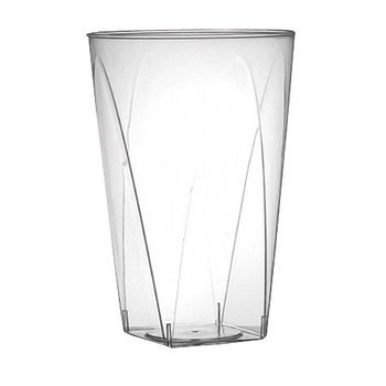 10 oz. Clear Plastic Square Bottom Tumbler / Cup 20ct.