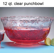 12 qt. Clear Plastic Punch Bowl