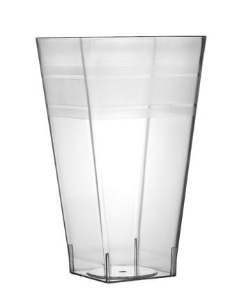 12oz. Wavetrends Square Clear Plastic Tumblers 14ct.