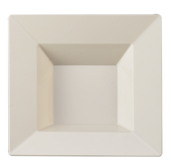 12oz. Bone Plastic Square Soup Bowl