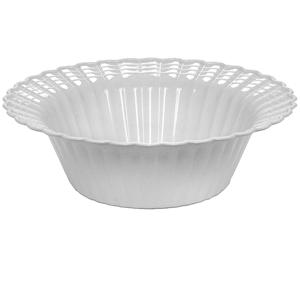 12oz. Plastic Scalloped White Bowls 18 count