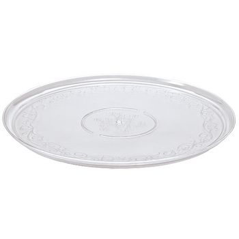 "16"" Clear Plastic Serving Tray"