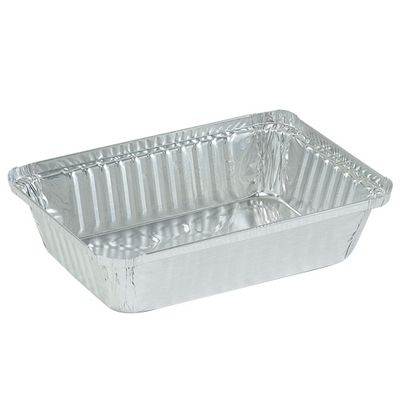 "2 1/4"" lb. Aluminum Disposable Oblong Pan"