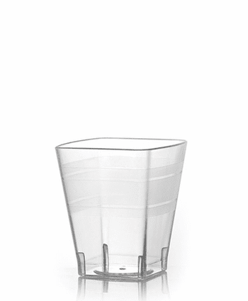 2oz. Wavetrends Square Clear Plastic Tumblers 18ct.