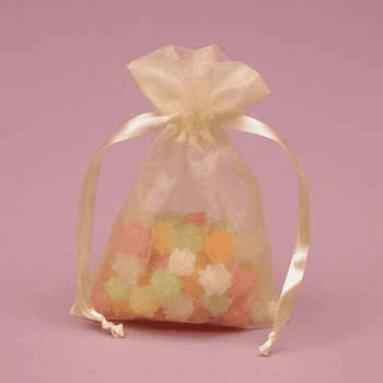 "4"" x 6"" Toffee Organza Bags 10ct."