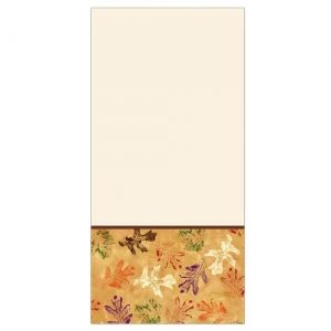 "54"" X 96"" Leaves Thanksgiving Fall Rectangular Plastic Tablecover"