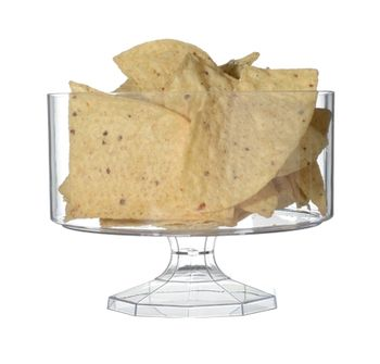 "6"" Clear Plastic Footed Trifle Bowl"