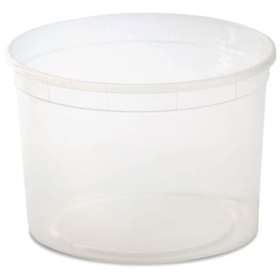 64oz. Clear Plastic Disposable Containers w/ Lids *Case of 100*