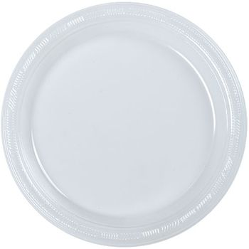 "7"" Clear Plastic Cake / Salad Plate 50ct."