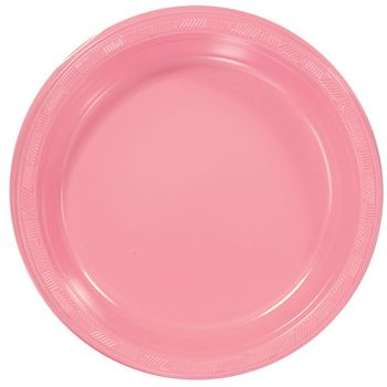 "7"" Pink Party Plastic Plates 50ct."