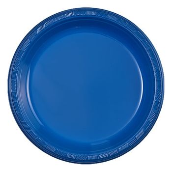 "7"" Regal Blue Plastic Plates 50ct"