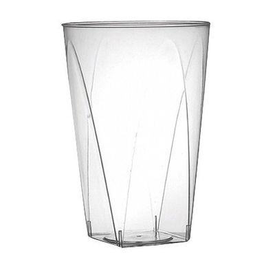 7oz. Clear Plastic Square Bottom Tumbler / Cup *Case of 40*