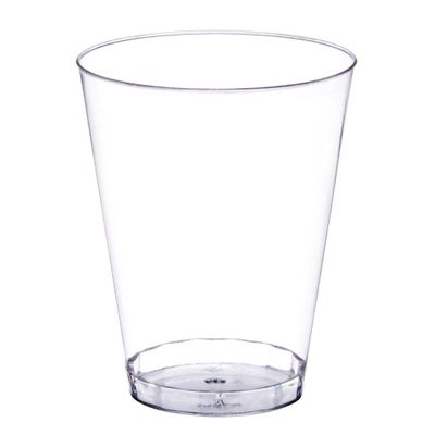 7oz. Clear Plastic Tumbler / Cup 20ct.