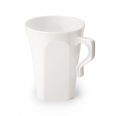 8.5 oz. Square Bottom Plastic Coffee Mugs 8ct.