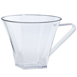 8 oz. Clear Plastic Flared Square Coffee Cups 8ct.