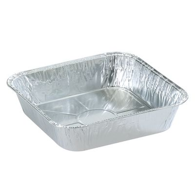 "8"" Square Aluminum Disposable Pans *Case of 100*"