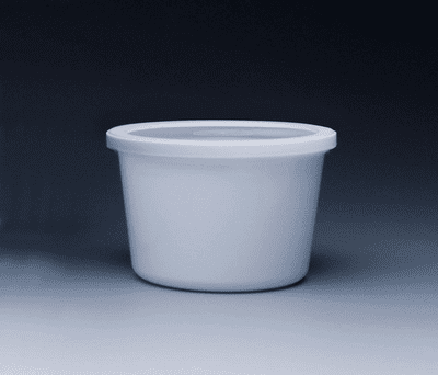 86oz. White Plastic Disposable Container w/ Lid