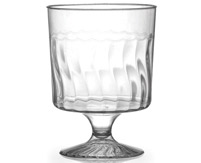 8oz. Clear Plastic 1pc. Wine Cup 10ct.