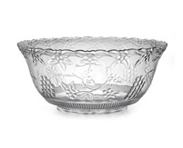 8qt. Plastic Crystal Cut Punch Bowl