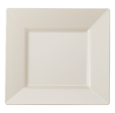 "9 1/2"" Bone Square Luncheon Plastic Plate *Case of 120*"