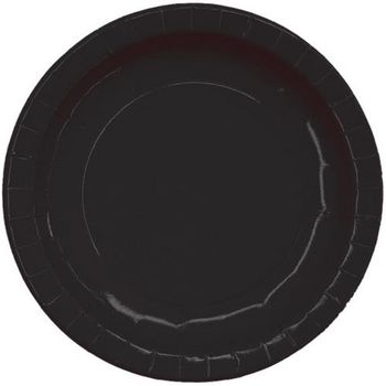 "9"" Black Paper Dinner Party Plates 16ct."