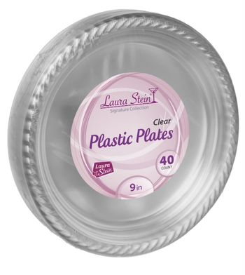 "9"" Clear Plastic Plates *Case of 480*"