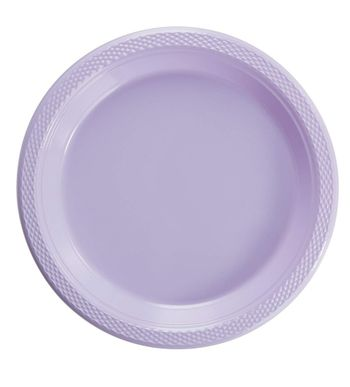 "9"" Lavender Plastic Party Plates 50ct."