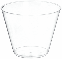 9 oz. Clear Hard Plastic Tumbler / Cup 20ct.