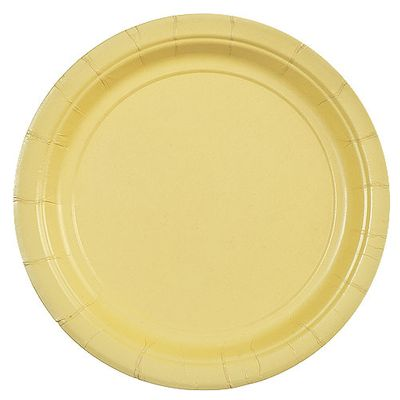 "9"" Yellow Plastic Party Plates 50ct."