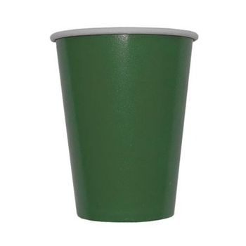 Solid Dark Green Hot/Cold Paper Cups 8ct.