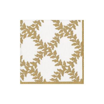 Acanthus Trellis Paper Cocktail Napkins in Ivory - 20 Per Package
