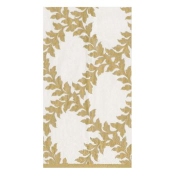 Acanthus Trellis Paper Guest Towel Napkins in Ivory - 15 Per Package