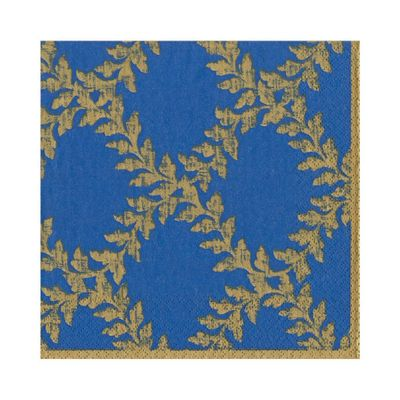 Acanthus Trellis Paper Luncheon Napkins in Blue - 20 Per Package