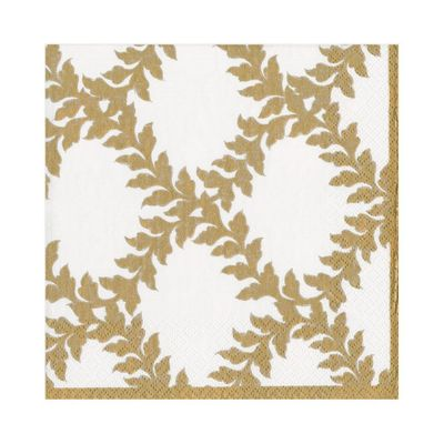 Acanthus Trellis Paper Luncheon Napkins in Ivory - 20 Per Package