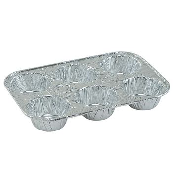 Aluminum Disposable 6 Cup Muffin Pan