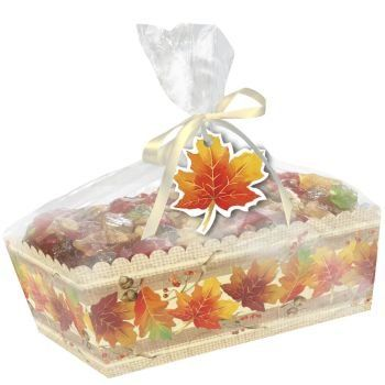 Autumn Paper Loaf Pan w/Clear Cello Wrap, 2 count