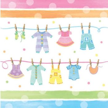 Baby Clothes Plastic 54x108 Tablecover