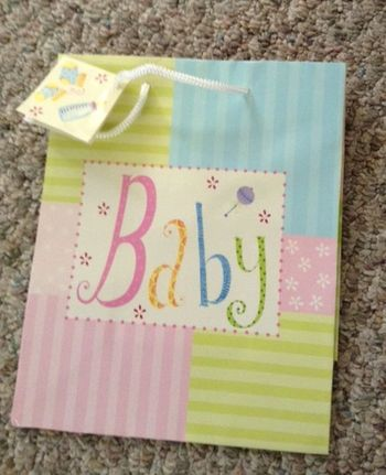Baby Shower Pastel Medium Gift Bag With Rope Handle