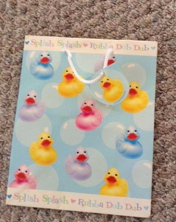 Baby Shower Splish Splash Ducky Medium Gift Bag With Rope Handle