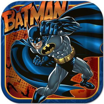 """Batman Heroes and Villains Birthday 9"""" Square Luncheon Plates, 8ct."""