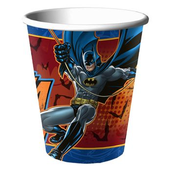 Batman Heroes and Villains Birthday 9oz. Paper Cups, 8ct.