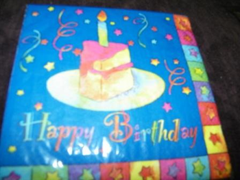 Birthday Bright Happy Birthday Luncheon Napkins 16 ct.