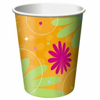 Birthday Style Girls 9oz. Hot / Cold Paper Cup 8ct.