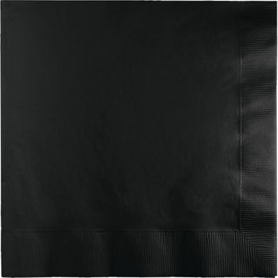 Black 2-Ply Lunch Napkins, 50ct.