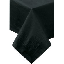"""Black Polylined Tablecloths 54"""" x 108"""""""