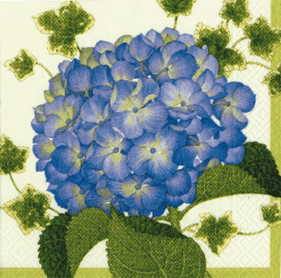 Blue Hydrangea Floral Lunch Napkins 16ct.