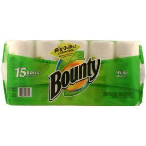 Bounty White Paper Towels 15ct.