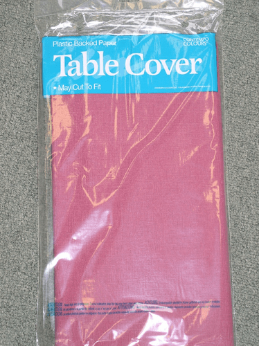 "Burgandy Polylined Tablecloths 54"" x 108"""